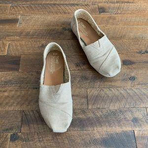 TOMS gold glimmer classic flat